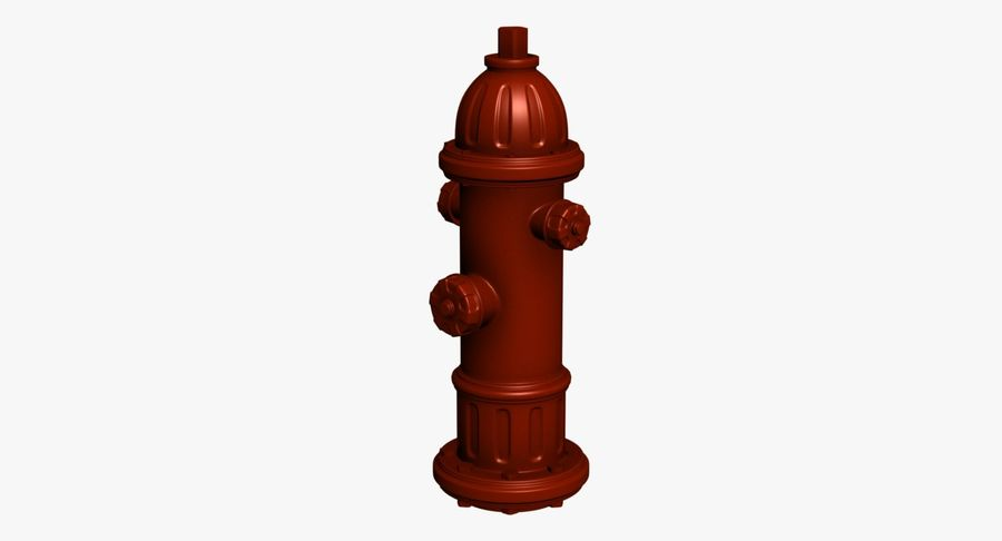 Fire Hydrant royalty-free 3d model - Preview no. 2