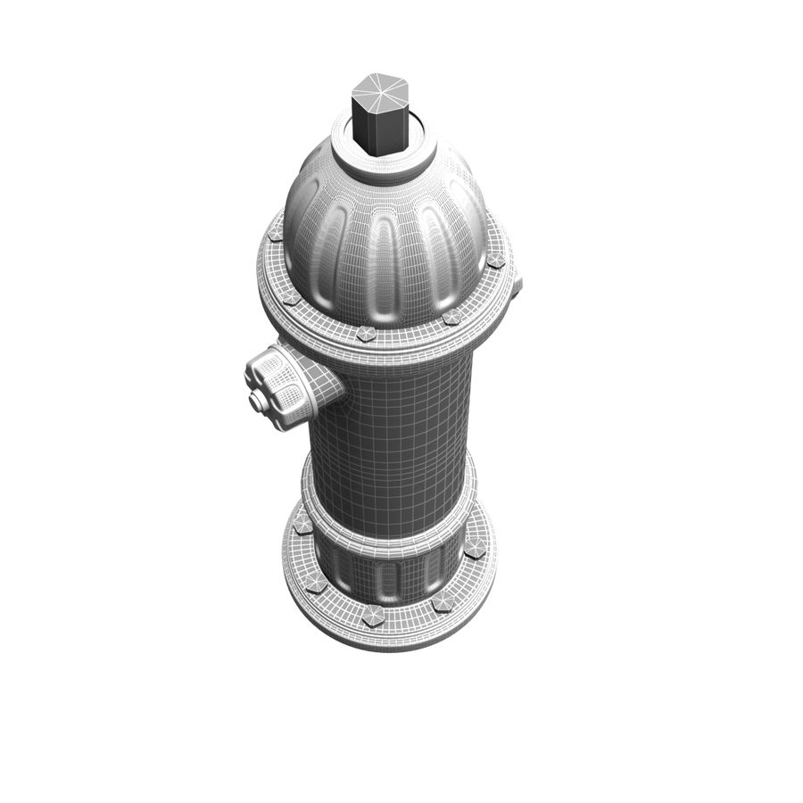 Fire Hydrant royalty-free 3d model - Preview no. 14