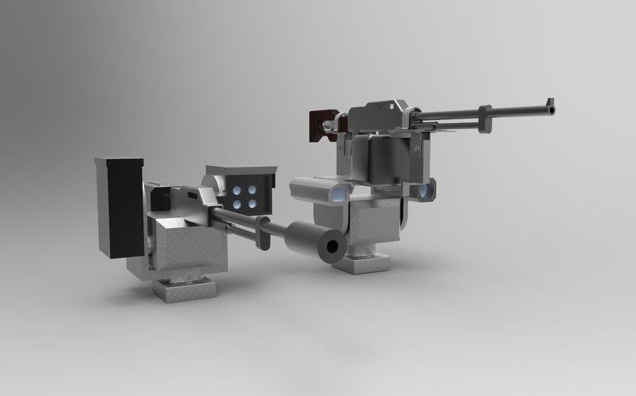 AK47枪和步枪 royalty-free 3d model - Preview no. 1