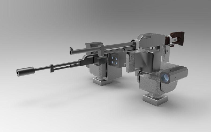 AK47枪和步枪 royalty-free 3d model - Preview no. 2