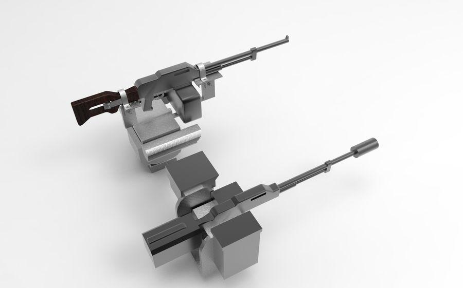 AK47枪和步枪 royalty-free 3d model - Preview no. 3