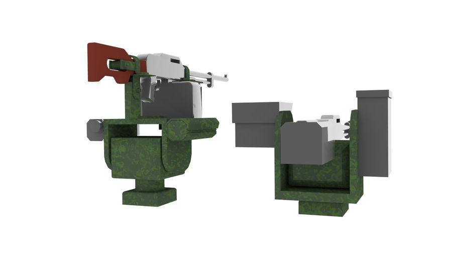 AK47枪和步枪 royalty-free 3d model - Preview no. 8