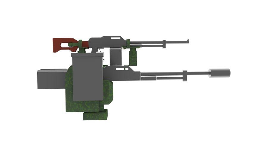AK47枪和步枪 royalty-free 3d model - Preview no. 7