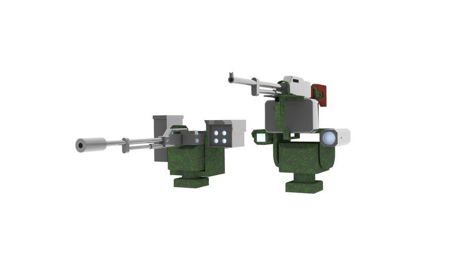 AK47枪和步枪 royalty-free 3d model - Preview no. 5