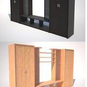 Kast voor woonkamer in twee kleuren. 3d model