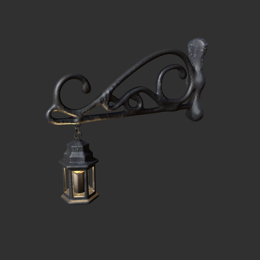 Eski fener royalty-free 3d model - Preview no. 3