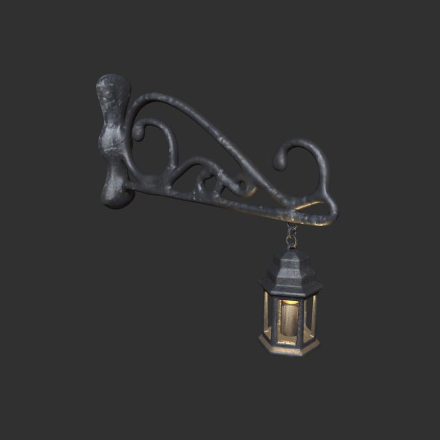 Eski fener royalty-free 3d model - Preview no. 2