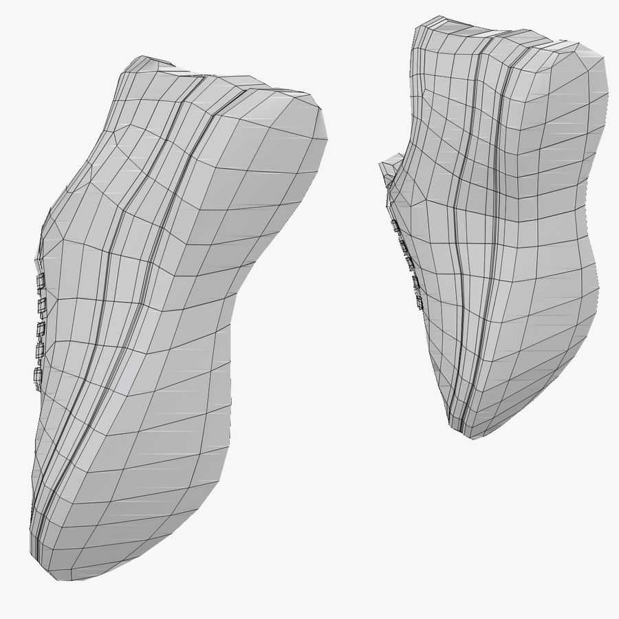 Turnschuhe Lachs royalty-free 3d model - Preview no. 23