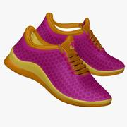 Sneakers Purple and Yellow 3d model