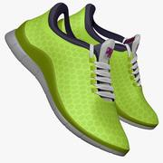 Sneakers Lime Green 3d model