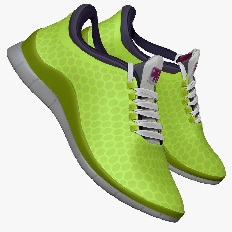 Spor ayakkabı kireç yeşil royalty-free 3d model - Preview no. 1