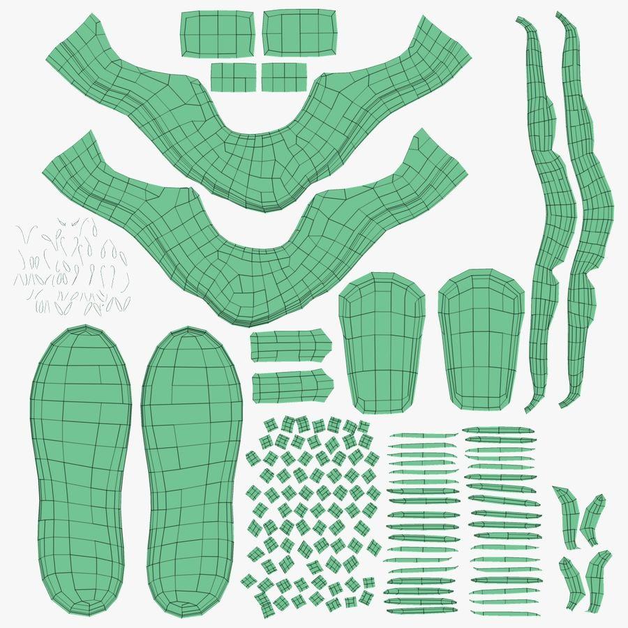 Spor ayakkabı kireç yeşil royalty-free 3d model - Preview no. 18