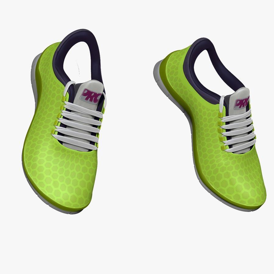 Spor ayakkabı kireç yeşil royalty-free 3d model - Preview no. 5