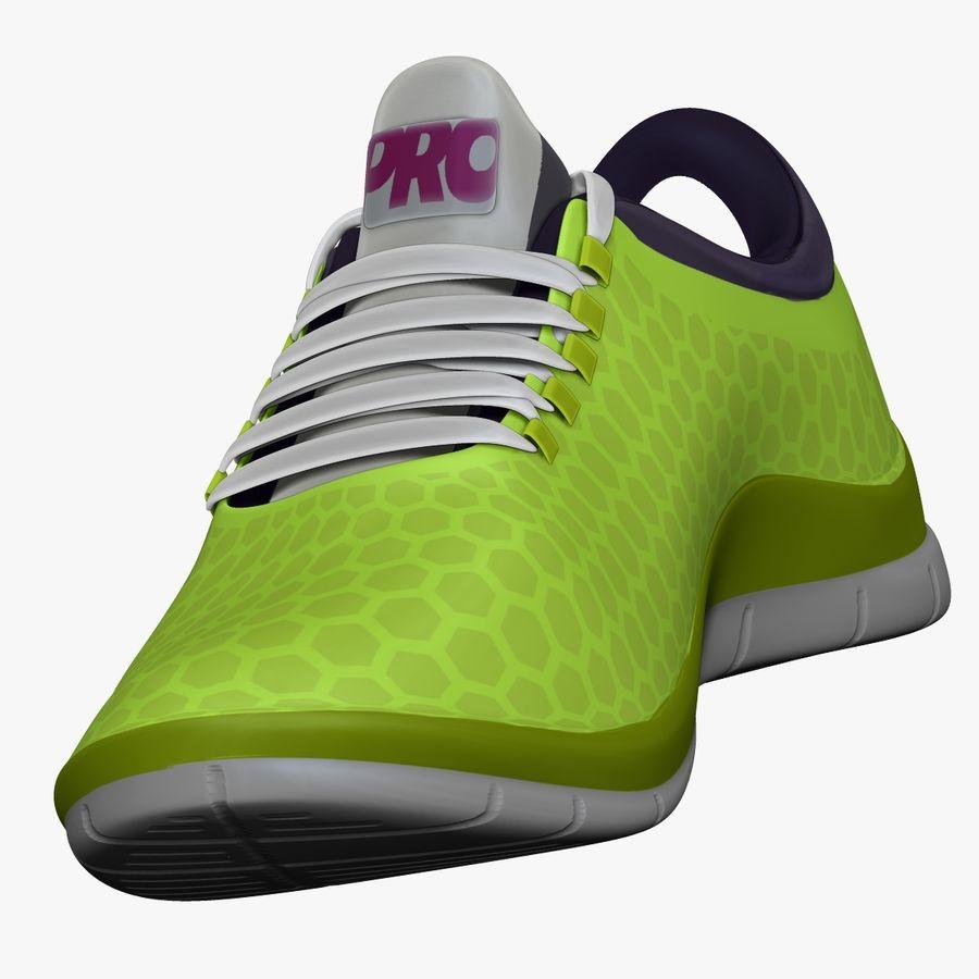 Spor ayakkabı kireç yeşil royalty-free 3d model - Preview no. 8