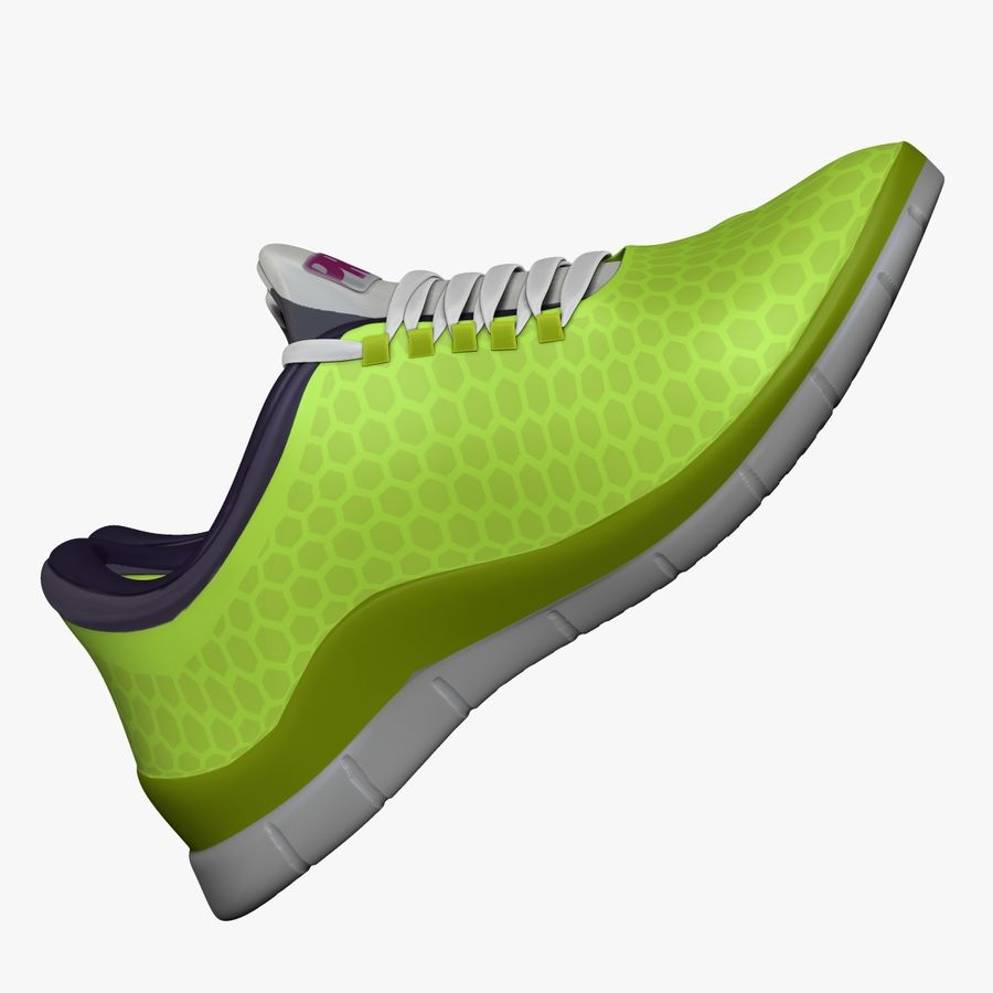 Spor ayakkabı kireç yeşil royalty-free 3d model - Preview no. 4