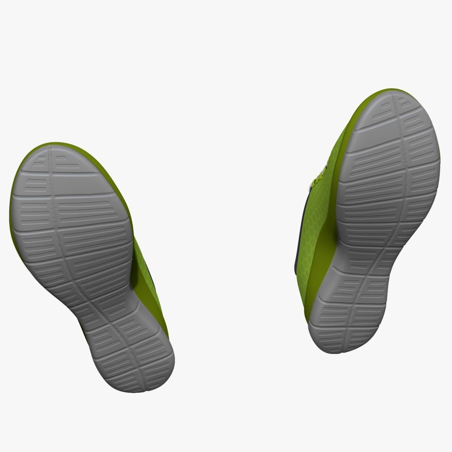 Spor ayakkabı kireç yeşil royalty-free 3d model - Preview no. 9