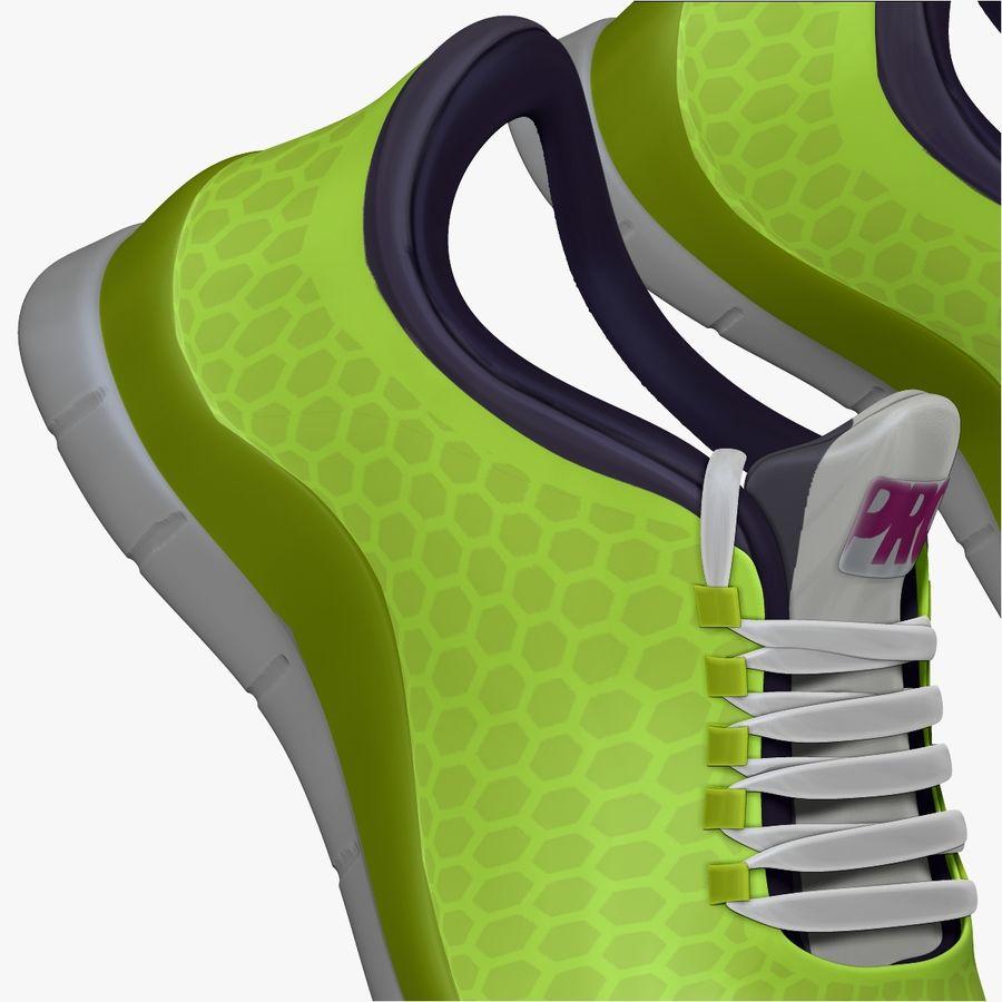 Spor ayakkabı kireç yeşil royalty-free 3d model - Preview no. 6