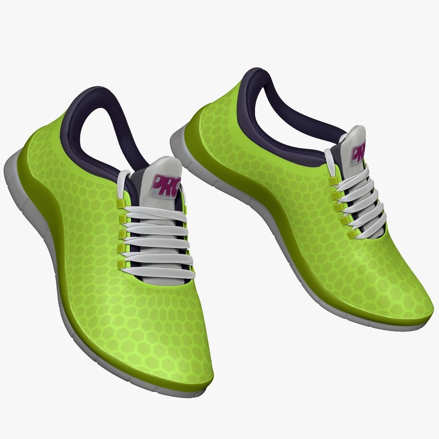 Spor ayakkabı kireç yeşil royalty-free 3d model - Preview no. 3