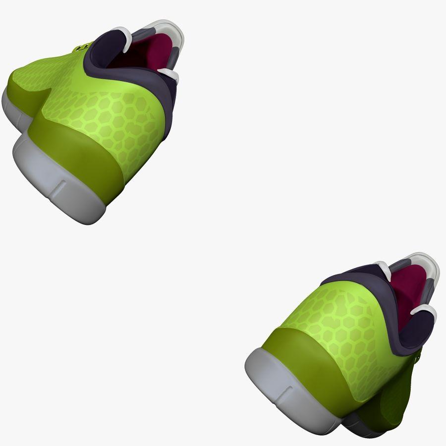 Spor ayakkabı kireç yeşil royalty-free 3d model - Preview no. 7