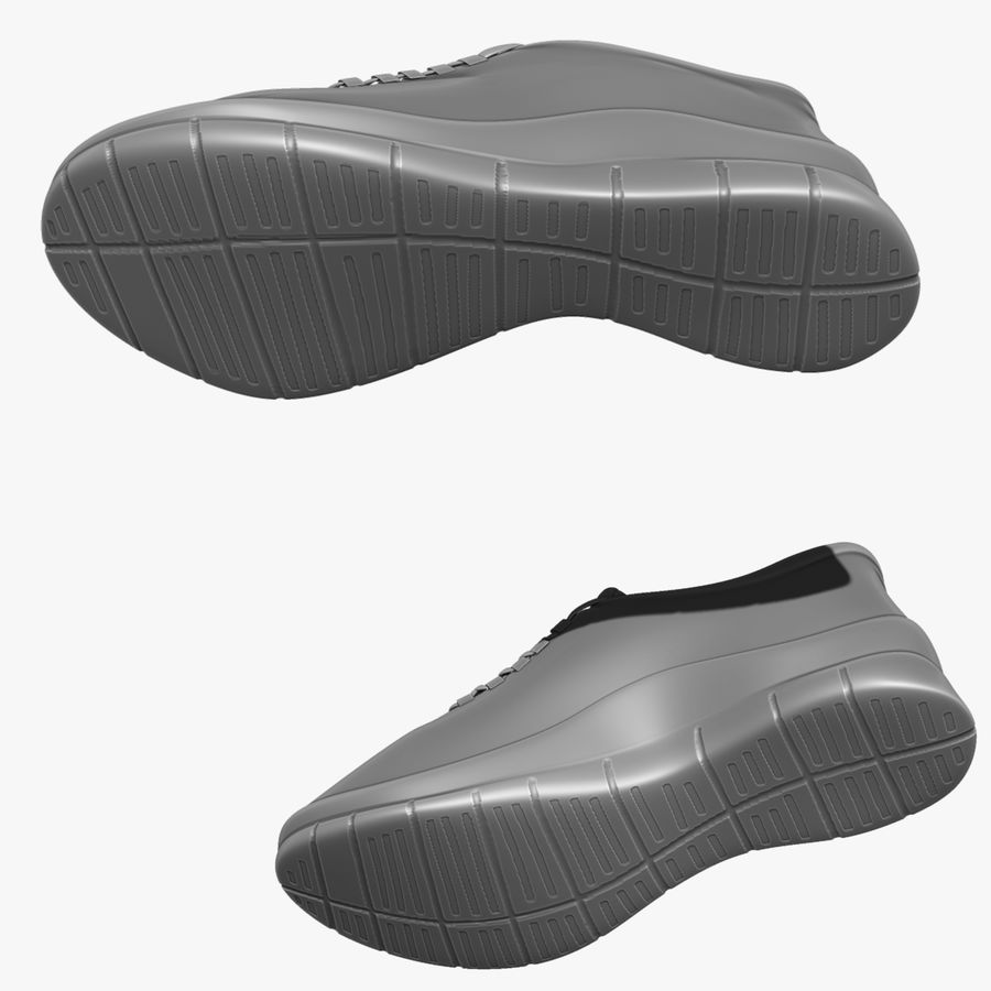 Turnschuhe Lachs und Blau royalty-free 3d model - Preview no. 12