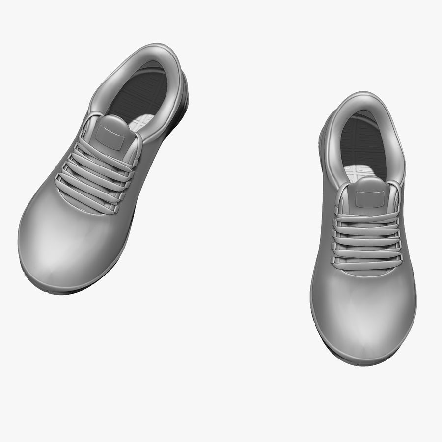 Turnschuhe Lachs und Blau royalty-free 3d model - Preview no. 14