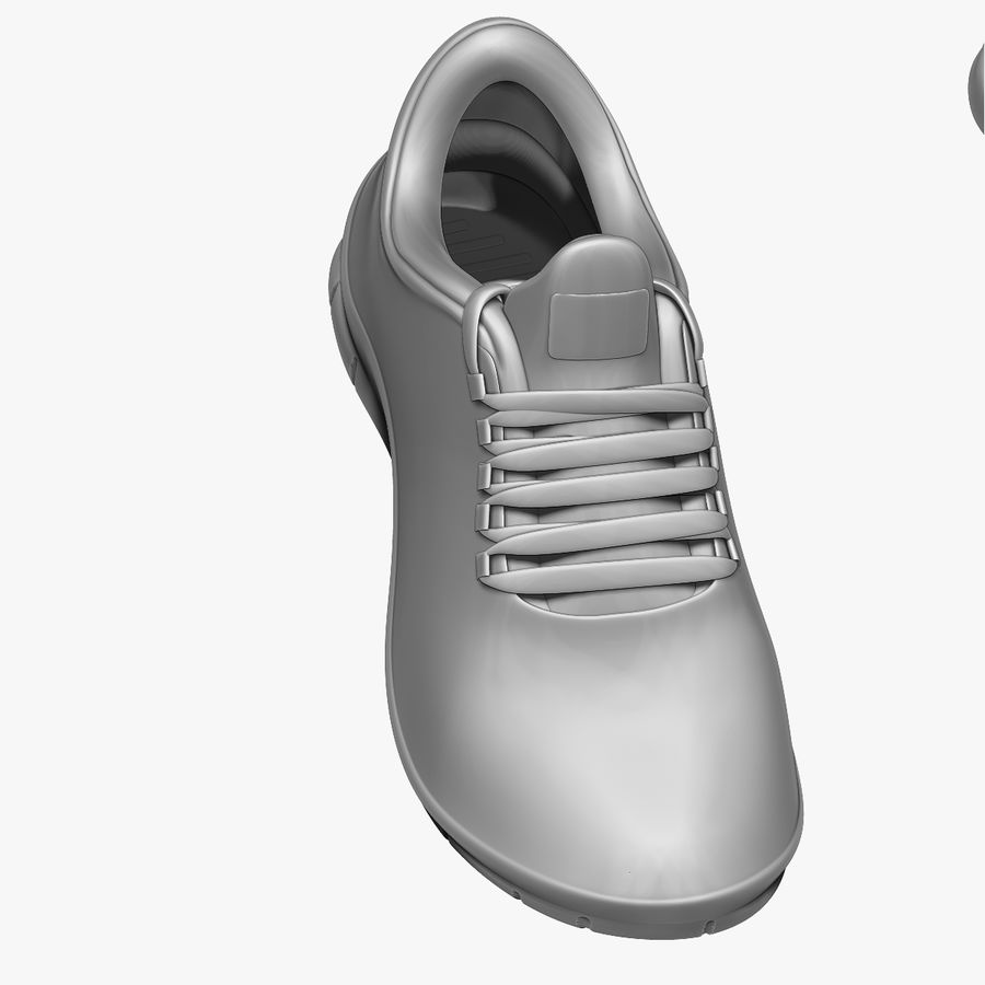 Turnschuhe Lachs und Blau royalty-free 3d model - Preview no. 13