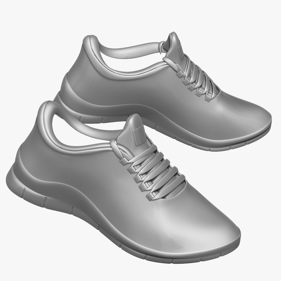 Turnschuhe Lachs und Blau royalty-free 3d model - Preview no. 9
