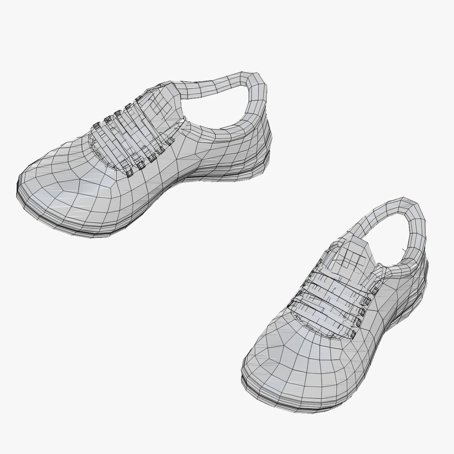 Turnschuhe Lachs und Blau royalty-free 3d model - Preview no. 18