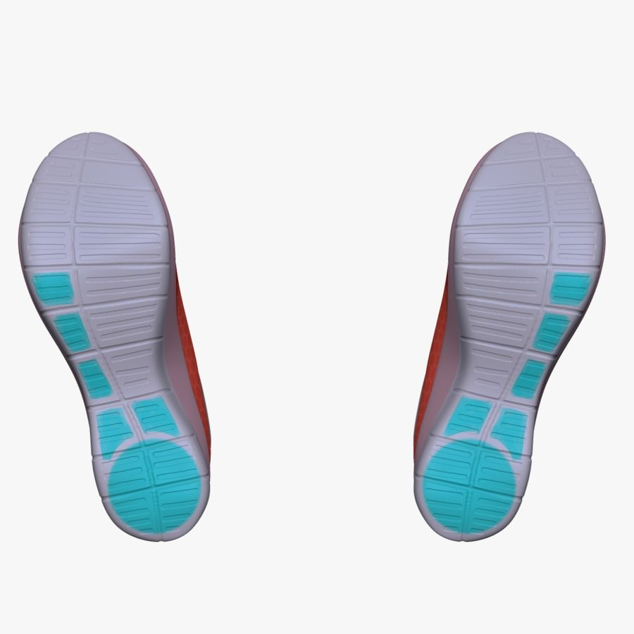 Turnschuhe Lachs und Blau royalty-free 3d model - Preview no. 8