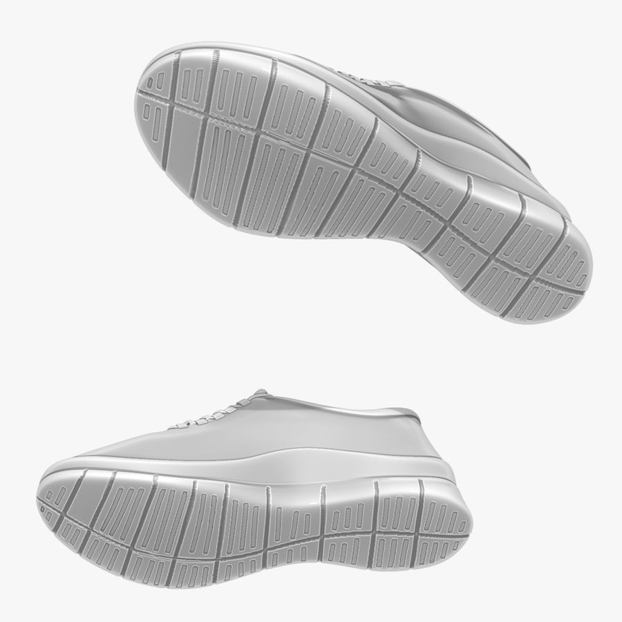 Turnschuhe Lachs und Blau royalty-free 3d model - Preview no. 15