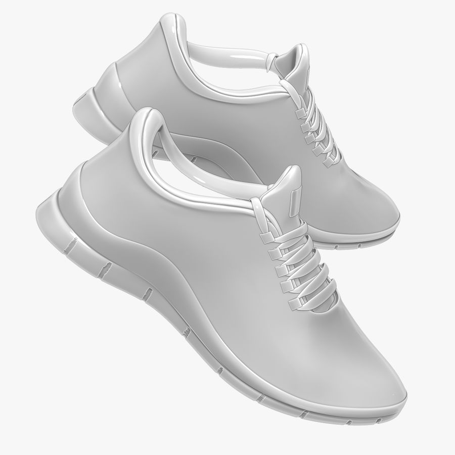 Turnschuhe Lachs und Blau royalty-free 3d model - Preview no. 16