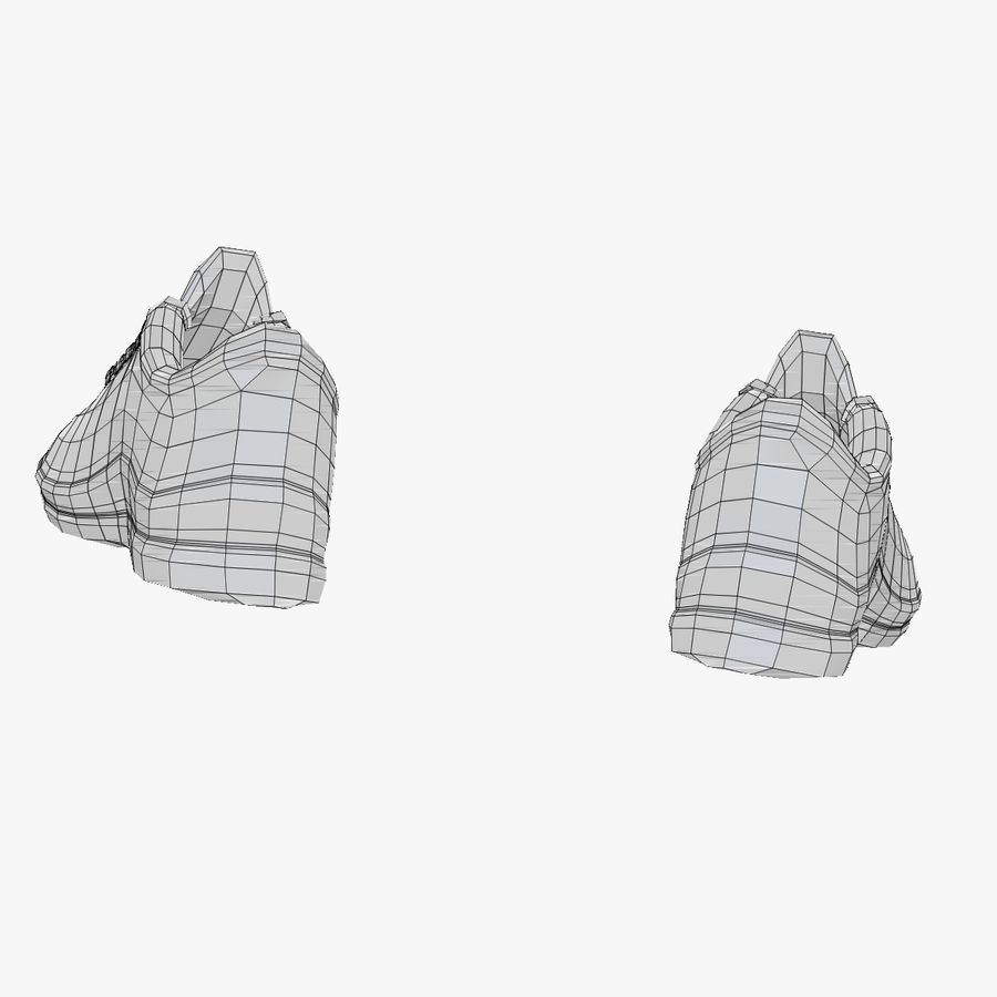 Turnschuhe Lachs und Blau royalty-free 3d model - Preview no. 24