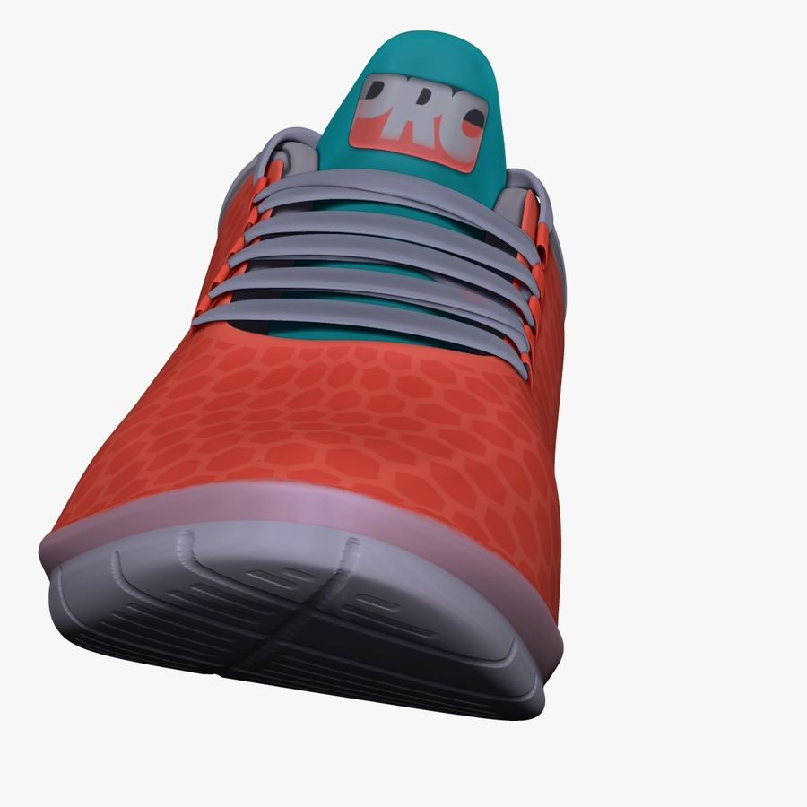 Turnschuhe Lachs und Blau royalty-free 3d model - Preview no. 4