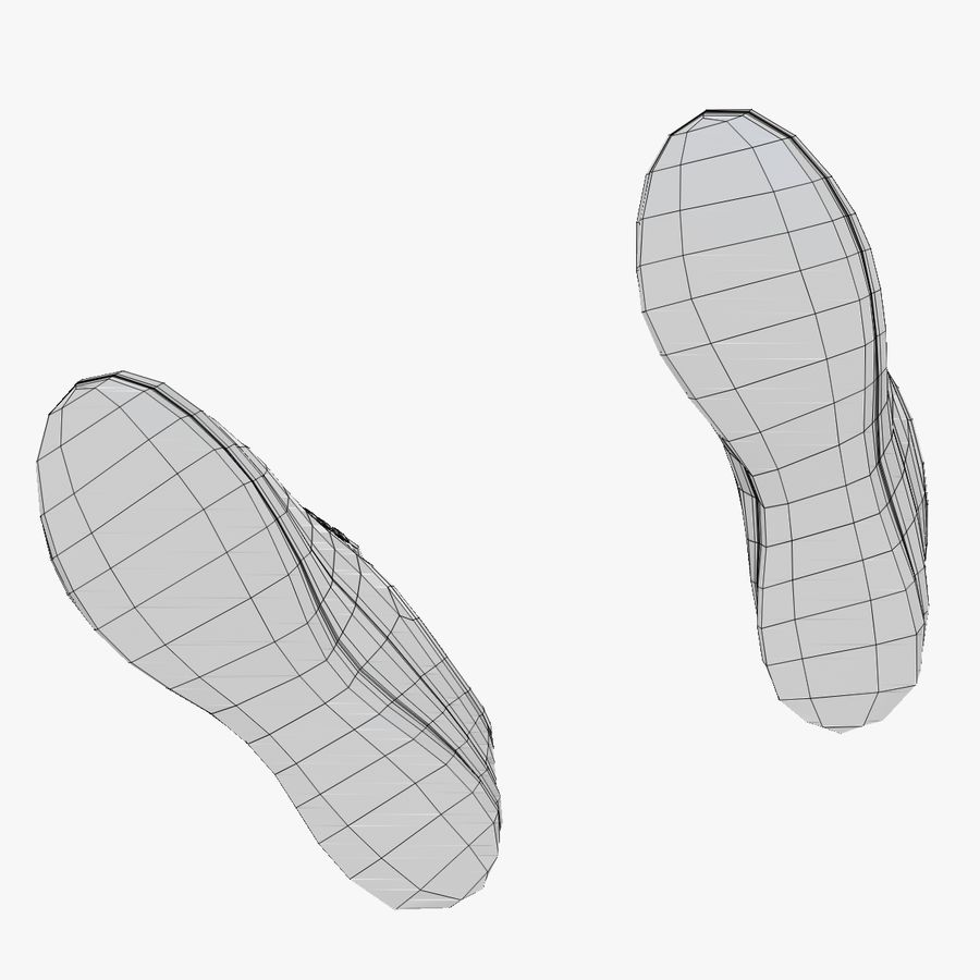 Turnschuhe Lachs und Blau royalty-free 3d model - Preview no. 19