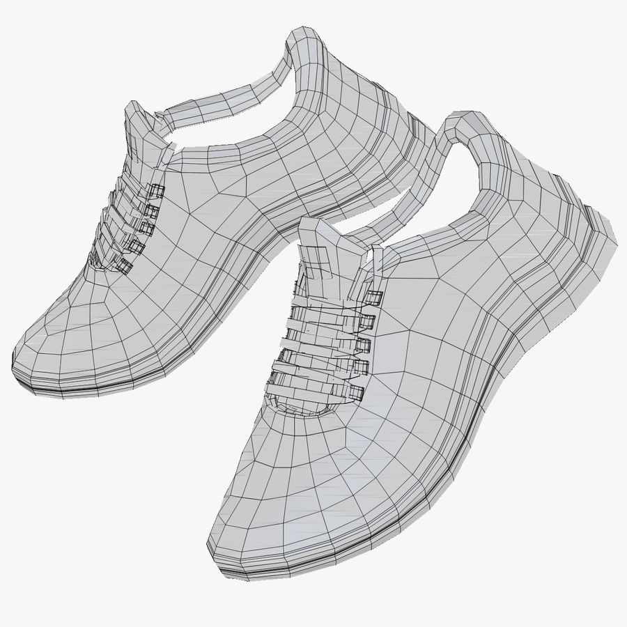 Turnschuhe Lachs und Blau royalty-free 3d model - Preview no. 23