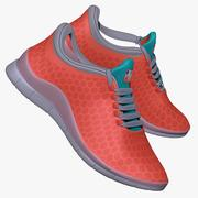 Sneakers Salmon and Blue 3d model