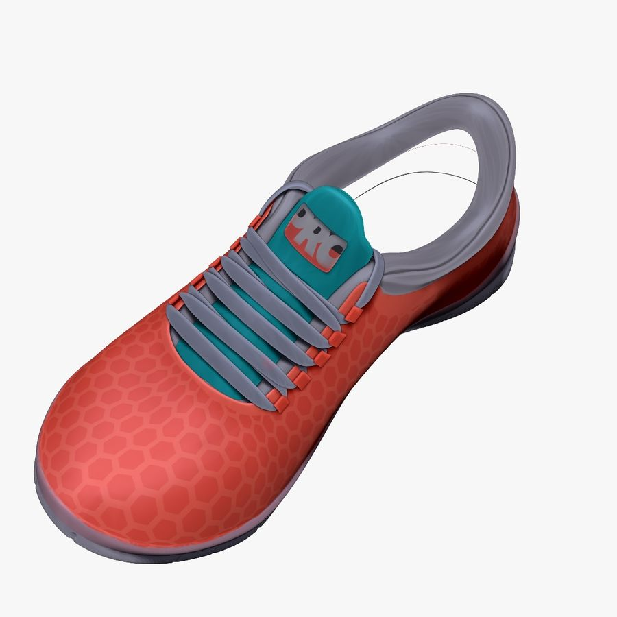 Turnschuhe Lachs und Blau royalty-free 3d model - Preview no. 3