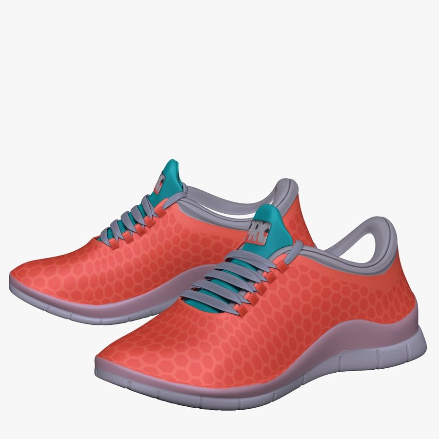 Turnschuhe Lachs und Blau royalty-free 3d model - Preview no. 5