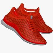 Sneakers Dark Orange 3d model