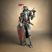 중세 기사 전투 갑옷 3d model