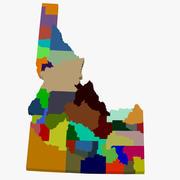 Kaart van de provincie - Idaho 3d model