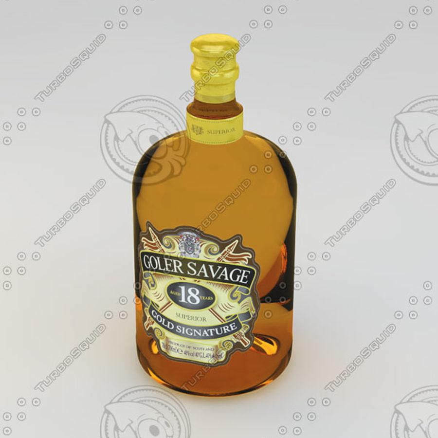 Flaska alkohol royalty-free 3d model - Preview no. 3