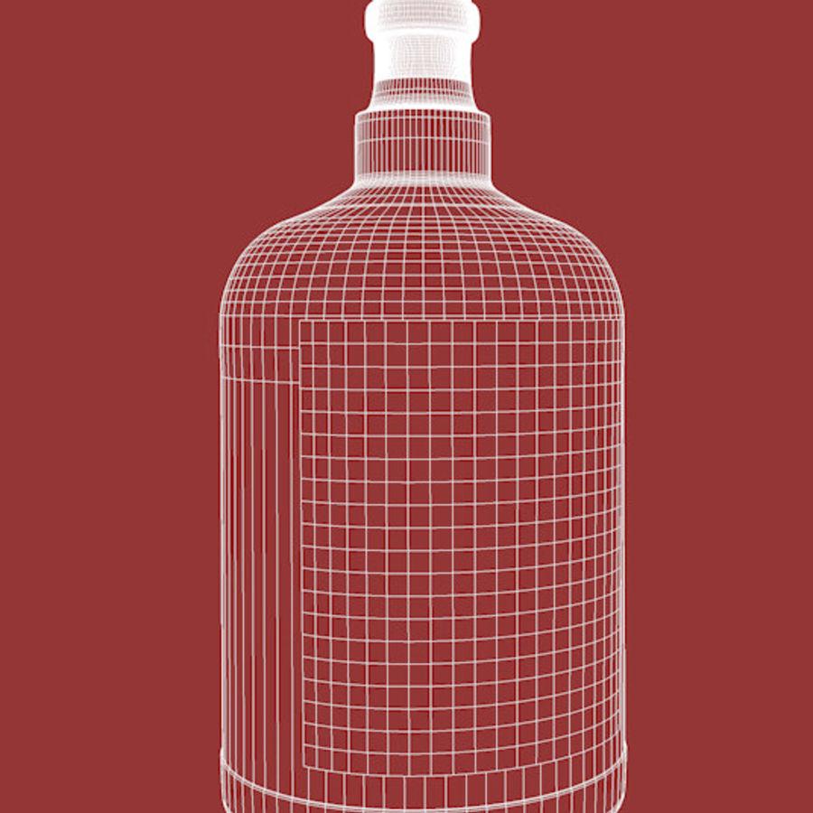 Flaska alkohol royalty-free 3d model - Preview no. 6