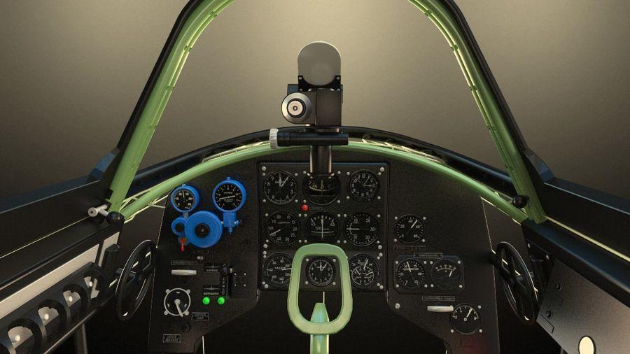 Kokpit Jakowlew Jak-3 royalty-free 3d model - Preview no. 2