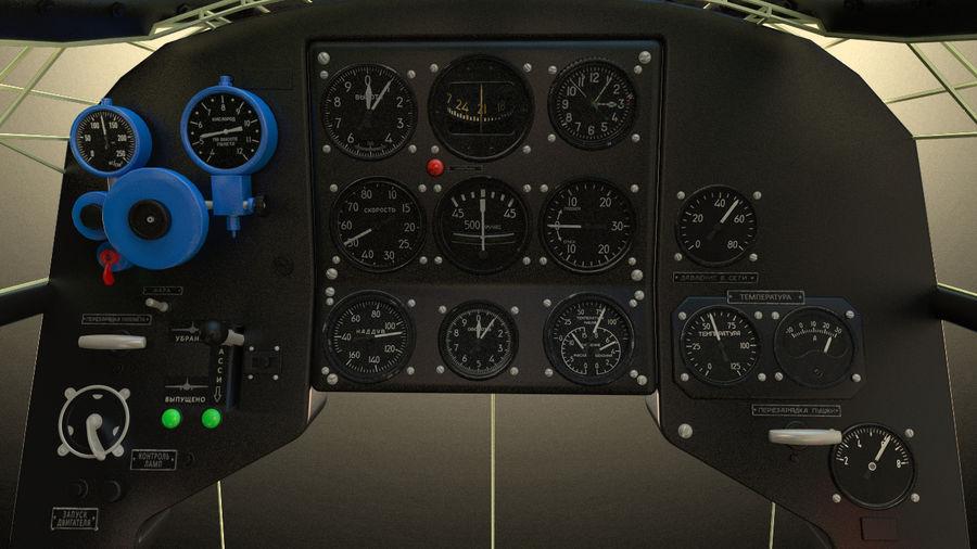 Kokpit Jakowlew Jak-3 royalty-free 3d model - Preview no. 1