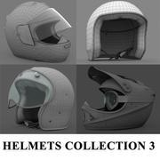 Kolekcja kasków 3 3d model