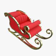 Slitta di Babbo Natale 3d model