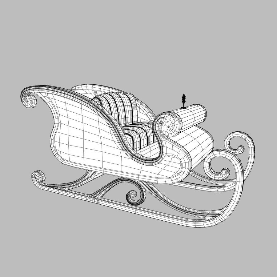 サンタクロースのそり royalty-free 3d model - Preview no. 4