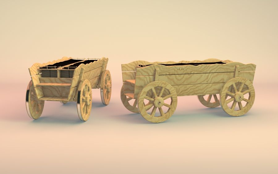 вагон royalty-free 3d model - Preview no. 4