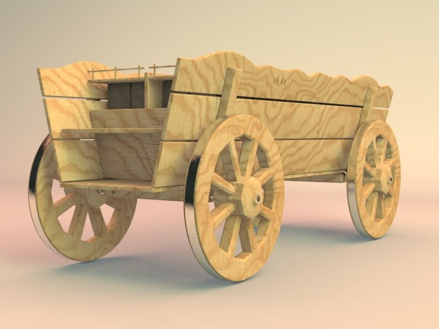 вагон royalty-free 3d model - Preview no. 1